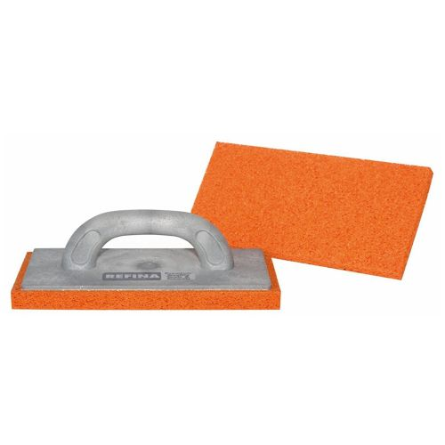 "Refina 11"" Sponge Float MEDIUM  Orange Grey Handle 261126"